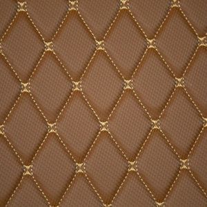 Brown with gold stitching - Premier